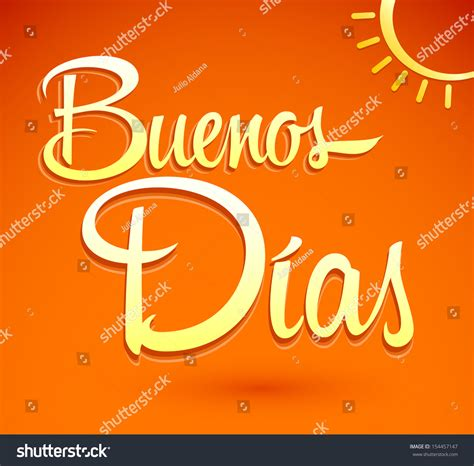 imagenes para good morning buenos dias good morning spanish text vectores en stock