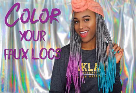 fau colors how to color crochet faux locs