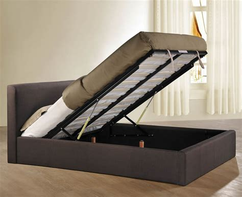 4 foot ottoman beds with mattress reynolds small double 4ft chocolate upholstered ottoman bed