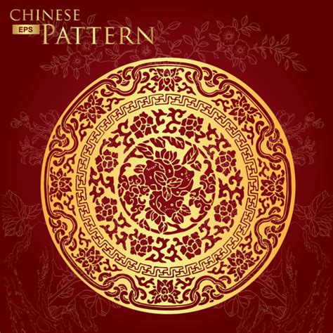 chinese pattern vector ai chinese style floral pattern vector graphic 04 vector