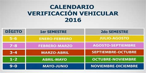 calendario vehicular 2016 estado de veracruz pago de multa verificacion estado de mexico