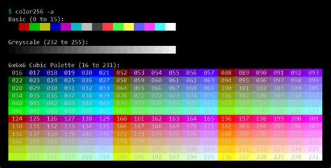 color bash github seedform bash color palette a bash script to