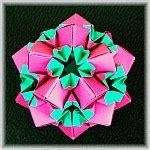 Exquisite Modular Origami - flower variation