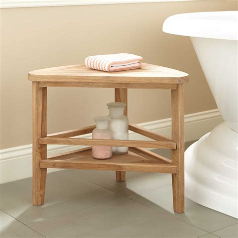 Teak Bathroom Stool Uk Teak Corner Shower Stool Shower Seats Bathroom