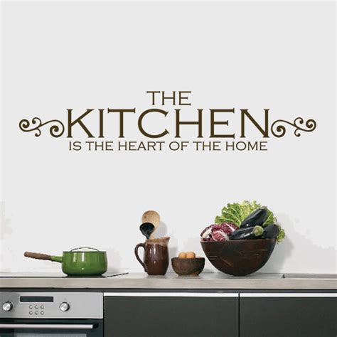 the kitchen is the heart of the home shop all decals quotes and definitions wall decals