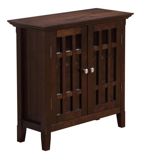 Low Storage Cabinet Simpli Home Bedford Low Storage Media Cabinet And Buffet 32 Quot W X 31 Quot H Tobacco