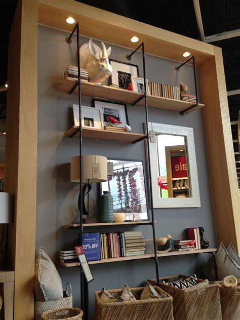 west elm shelving pipe shelf i spotted in west elm overocker living room