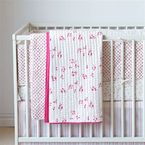 Pink Crib Quilt by Pretty With Pink Crib Quilt By Auggie