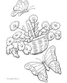 Printable Spring Coloring Pages sketch template