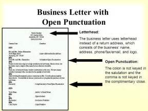 personal business letter block style open punctuation