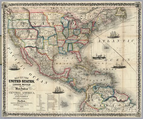 map mexico usa map usa and central america all world maps