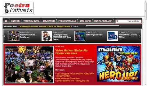 cara membuat video news item cara membuat headline news dibawah header blog pandu seo