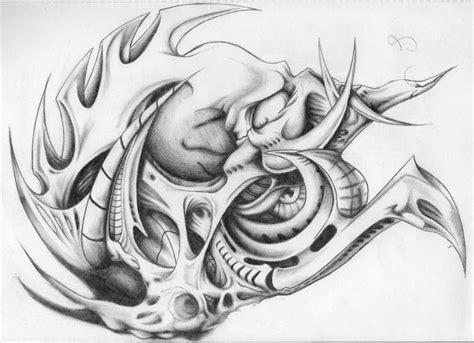 biomechanical tattoo line drawing biomechanical drawing tattoo design pata dise 241 o