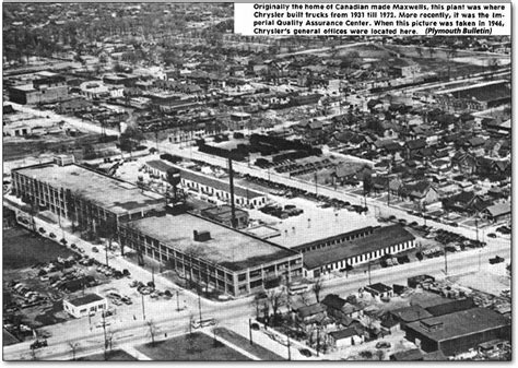 Chrysler Manufacturing Plants by Roots Of Chrysler Chalmers Motor Corporation Cars