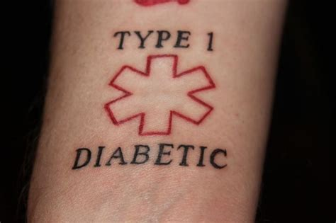 type 1 diabetes tattoo designs 1000 ideas about alert on