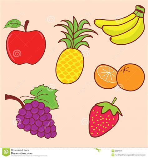 doodle fruit fruit doodle set royalty free stock image image 28373876