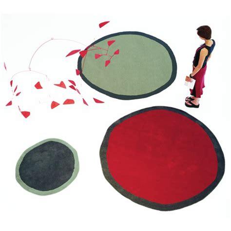 alfombra aros redonda ocm roja er