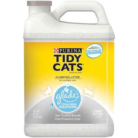 cat litter purina tidy cats clumping cat litter with glade tough odor solutions for cats