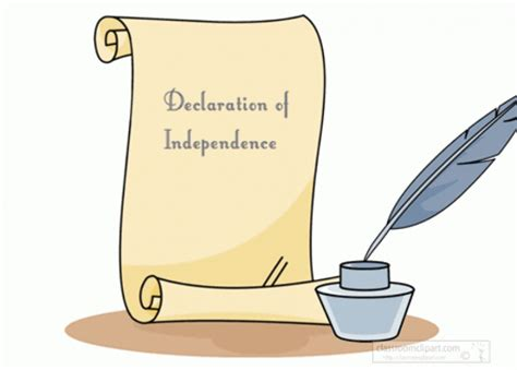 declaration of independence clipart quill clipart independence pencil and in color quill