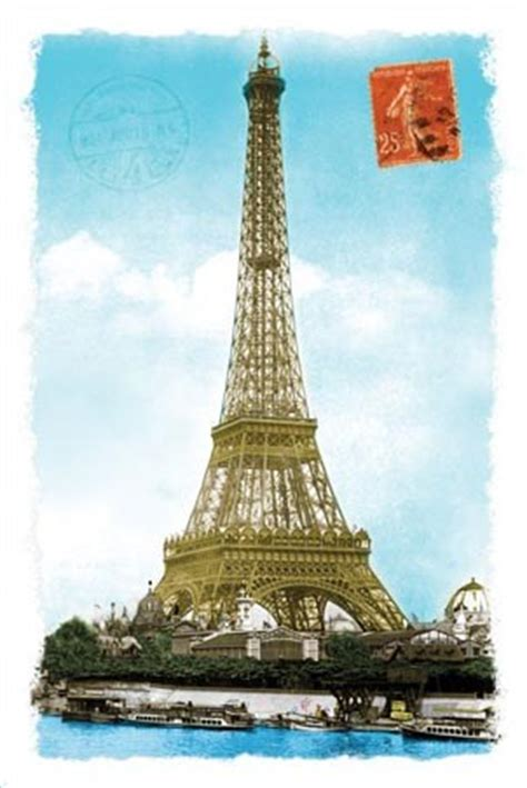 Eiffel Tower Wall Murals postcard from paris tour eiffel popartuk