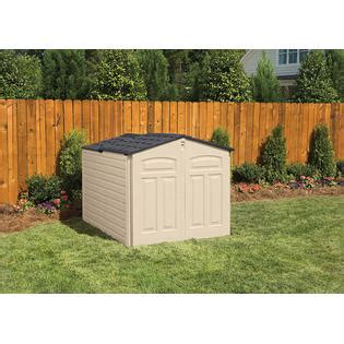 Rubbermaid Resin Slide Lid Shed by Rubbermaid 1800005 Outdoor Resin Slide Lid Storage Shed 4 7 Quot X 6 4 Quot X 4 4 Quot