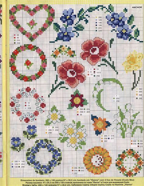 schemi punto croce gratis fiori schemi di ghirlande floreali magiedifilo it punto croce
