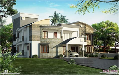 1607 sq ft luxury 3 bedroom contemporary villa home design modern luxury villa design kerala home design and floor