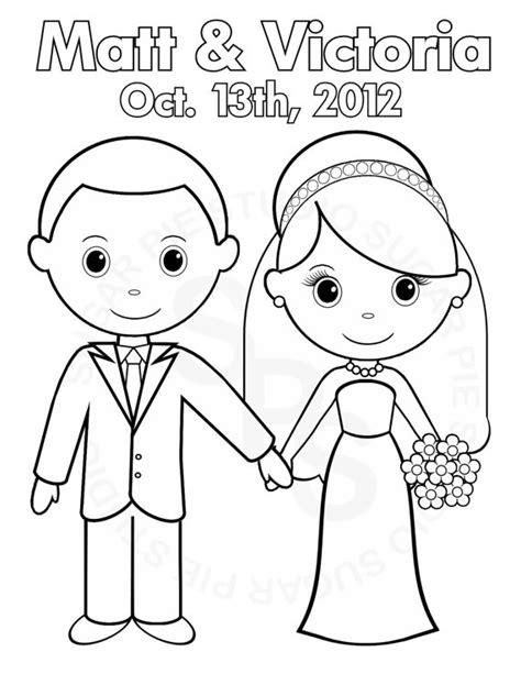Printable And Groom Coloring Pages by Personalized Printable Groom Wedding Favor
