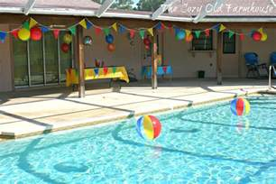 Pool Party Decorations | the cozy old quot farmhouse quot simple and budget friendly pool
