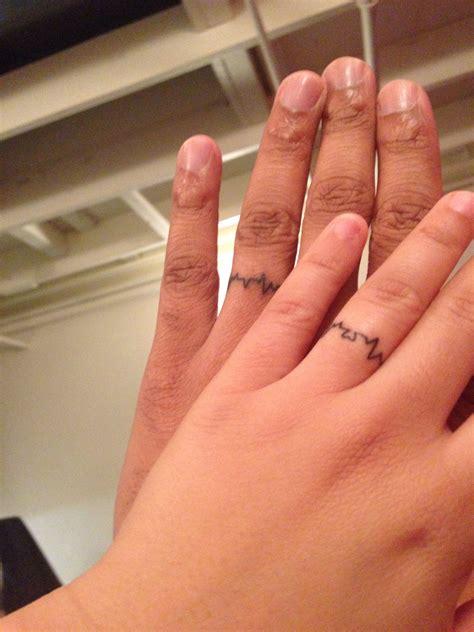 wedding ring tattoos permanent like heartbeat ring finger wedding band i like tattoos