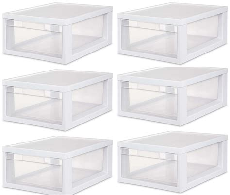 Clear Storage Drawers Stackable ebay