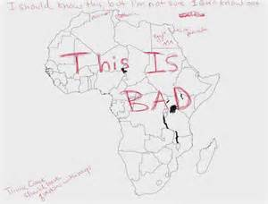 africa map fill in we asked americans to label a map of africa after the boko haram mic
