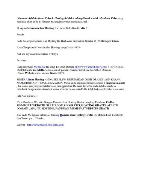 membuat website dengan hosting gratis cara membuat website dengan domain dan hosting gratis