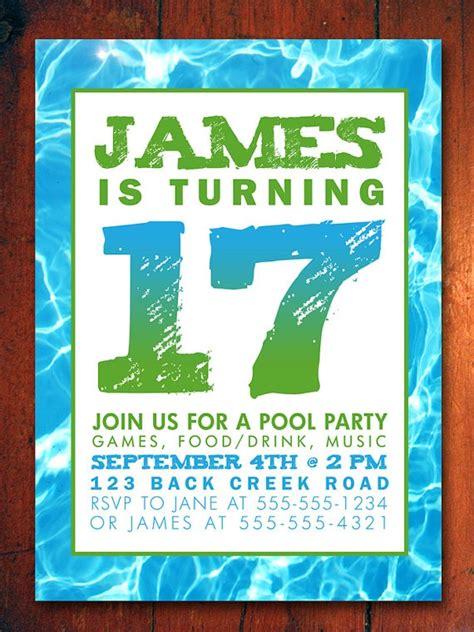 fishing birthday invitation poster style customizable print