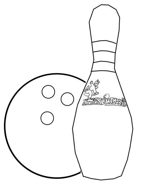 coloring pages bowling balls pins how to draw a bowling pin cliparts co
