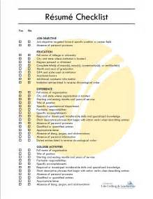Comprehensive Resume Template by Comprehensive Resume Checklist Sle Free Resume Templates
