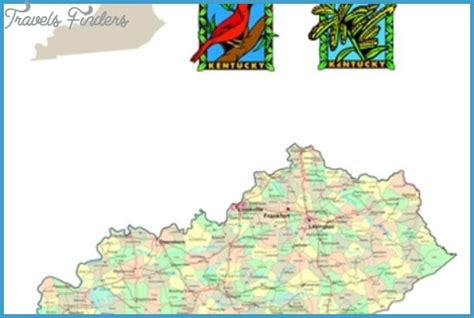 kentucky attractions map kentucky map tourist attractions travelsfinders