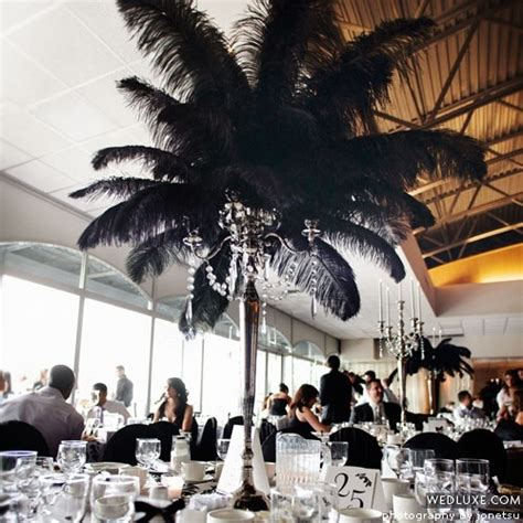 black feather centerpieces 25 best ideas about deco centerpiece on