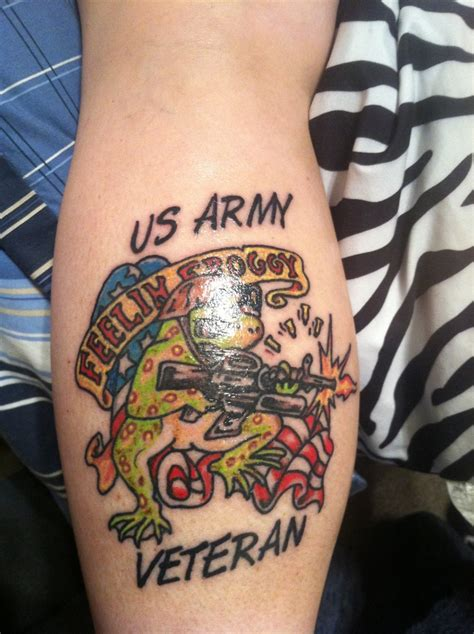 us army veteran frog my new tats