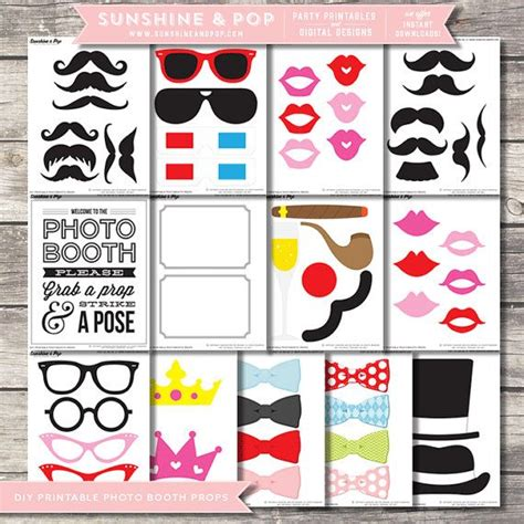 download themes for photo booth instant download diy printable photo booth props