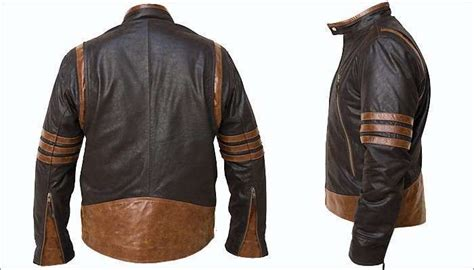 wolverine origins logan biker leather jacket all sizes x jacket at discounted