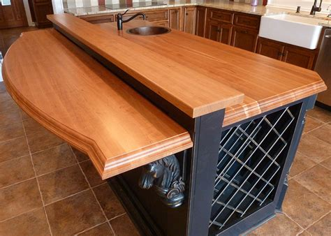 Cherry Countertop by American Cherry Edge Grain Countertops Southside Woodshop