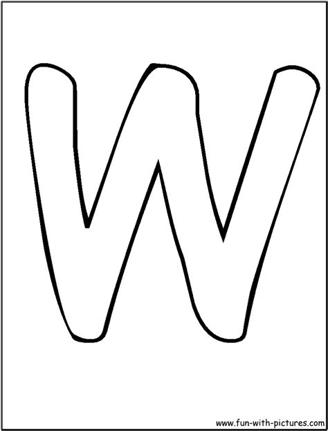 Letter W Coloring Pages Printable by Letter E Coloring Pages Letters W Coloring