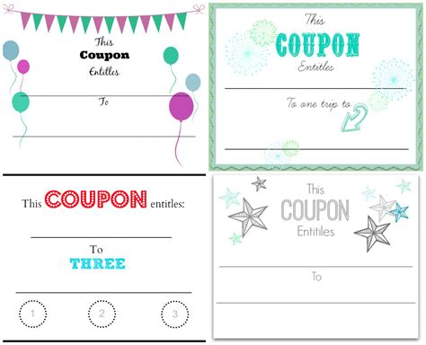 custom coupons free template make your own coupons free printables home