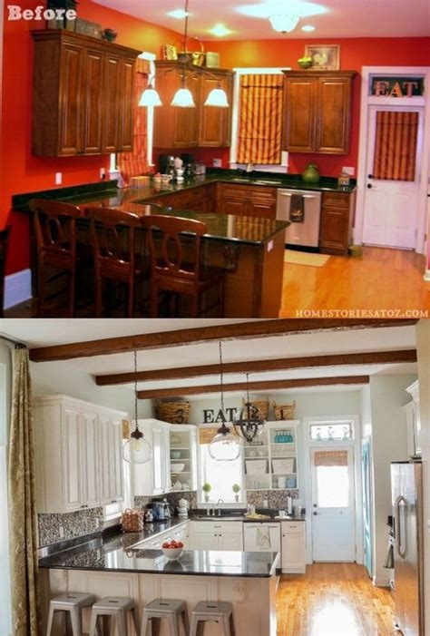 kitchen cabinets update ideas on a budget pretty before and after kitchen makeovers