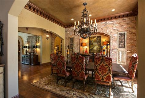 Mediterranean Interior Design Ideas Brick Interior Ideas Brick Wall Dining Room