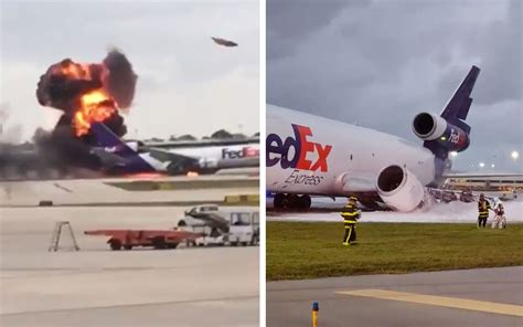 Fed Search Fedex Plane Explodes At Fort Lauderdale Travel Leisure