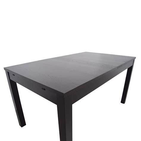 53 Off Ikea Ikea Bjursta Extendable Table Tables Coma Span Black Gateleg Dining Table