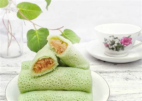 resep dadar gulung isi unti kelapa tips membuat kulit