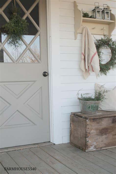 Farmhouse 5540 Christmas Porch Farmhouse Front Door